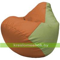 Бескаркасное кресло-мешок Груша Г2.3-2019 оранжевый, оливковый