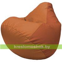 Бескаркасное кресло-мешок Груша Г2.3-2023 оранжевый, тёмно-оранжевый