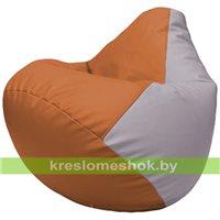 Бескаркасное кресло-мешок Груша Г2.3-2025 оранжевый, сиреневый