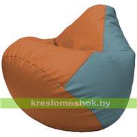 Бескаркасное кресло-мешок Груша Г2.3-2036 оранжевый, голубой