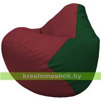 Бескаркасное кресло-мешок Груша Г2.3-2101 бордовый, зелёный