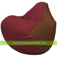 Бескаркасное кресло-мешок Груша Г2.3-2107 бордовый, коричневый
