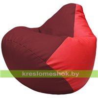 Бескаркасное кресло-мешок Груша Г2.3-2109 бордовый, красный