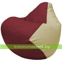 Бескаркасное кресло-мешок Груша Г2.3-2110 бордовый, светло-бежевый