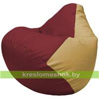 Бескаркасное кресло-мешок Груша Г2.3-2113 бордовый, бежевый