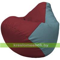 Бескаркасное кресло-мешок Груша Г2.3-2136 бордовый, голубой