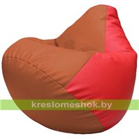 Бескаркасное кресло-мешок Груша Г2.3-2309 оранжевый, красный