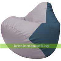 Бескаркасное кресло-мешок Груша Г2.3-2503 сиреневый, синий