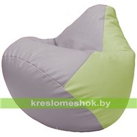 Бескаркасное кресло-мешок Груша Г2.3-2504 сиреневый, светло-салатовый