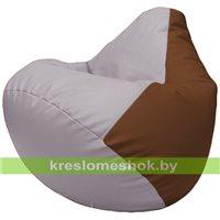 Бескаркасное кресло-мешок Груша Г2.3-2507 сиреневый, коричневый