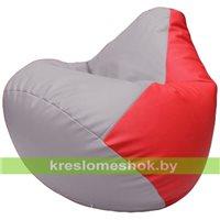 Бескаркасное кресло-мешок Груша Г2.3-2509 сиреневый, красный