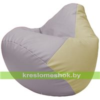 Бескаркасное кресло-мешок Груша Г2.3-2510 сиреневый, светло-бежевый