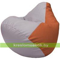 Бескаркасное кресло-мешок Груша Г2.3-2523 сиреневый, оранжевый
