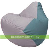 Бескаркасное кресло-мешок Груша Г2.3-2536 сиреневый, голубой