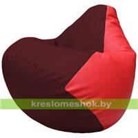 Бескаркасное кресло-мешок Груша Г2.3-3209 бордовый, красный