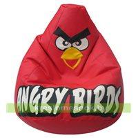 Кресло мешок Красная Птичка  экокожа