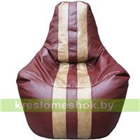 Кресло мешок Спортинг бордово-коричневый