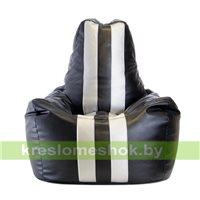 Кресло мешок Спортинг бело-чёрное