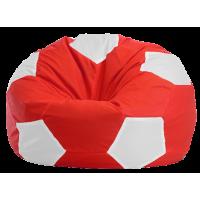 """Кресло-мешок """"Мяч Стандарт"""" красно белое"""