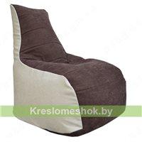 Кресло мешок Бумеранг (серый, тёмно-синий)