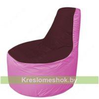 Кресло мешок Трон Т1.1-0103(бордовый-розовый)