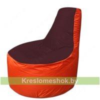 Кресло мешок Трон Т1.1-0105(бордовый-оранжевый)