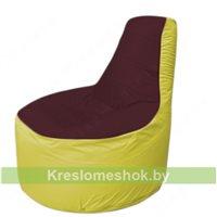 Кресло мешок Трон Т1.1-0106(бордовый-желтый)