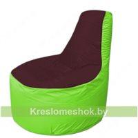 Кресло мешок Трон Т1.1-0107(бордовый-салатовый)