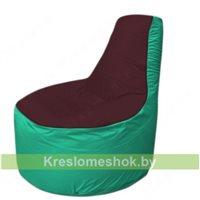 Кресло мешок Трон Т1.1-0112(бордовый-бирюзовый)
