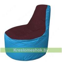 Кресло мешок Трон Т1.1-0113(бордовый-голубой)