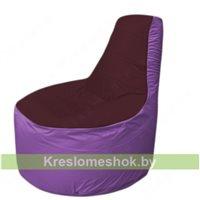 Кресло мешок Трон Т1.1-0117(бордовый-сиреневый)