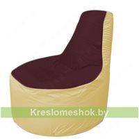 Кресло мешок Трон Т1.1-0120(бордовый-бежевый)