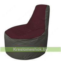 Кресло мешок Трон Т1.1-0123(бордовый-тем.серый)