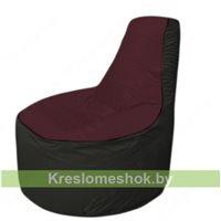 Кресло мешок Трон Т1.1-0124(бордовый-черный)