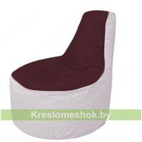 Кресло мешок Трон Т1.1-0125(бордовый-белый)
