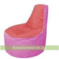 Кресло мешок Трон Т1.1-0203(красный-розовый)