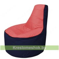 Кресло мешок Трон Т1.1-0216(красный-тем.синий)
