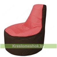 Кресло мешок Трон Т1.1-0219(красный-коричневый)