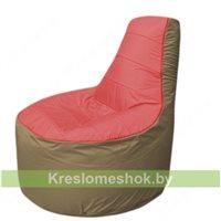 Кресло мешок Трон Т1.1-0221(красный-тем.бежевый)