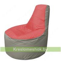 Кресло мешок Трон Т1.1-0222(красный-серый)