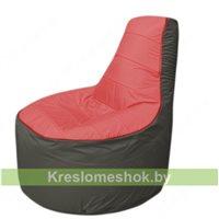 Кресло мешок Трон Т1.1-0223(красный-тем.серый)