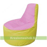 Кресло мешок Трон Т1.1-0306(розовый-желтый)