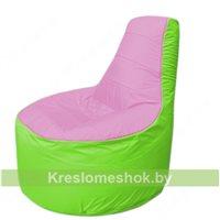 Кресло мешок Трон Т1.1-0307(розовый-салатовый)
