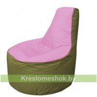 Кресло мешок Трон Т1.1-0310(розовый-оливковый)