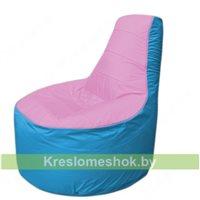 Кресло мешок Трон Т1.1-0313(розовый-голубой)