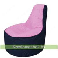 Кресло мешок Трон Т1.1-0316(розовый-тем.синий)