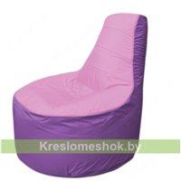 Кресло мешок Трон Т1.1-0317(розовый-сиренивый)
