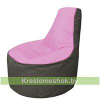 Кресло мешок Трон Т1.1-0323(розовый-тем.серый)