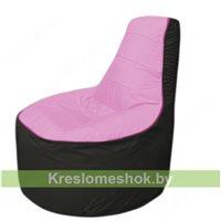 Кресло мешок Трон Т1.1-0324(розовый-черный)