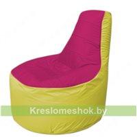 Кресло мешок Трон Т1.1-0406(фуксия-желтый)